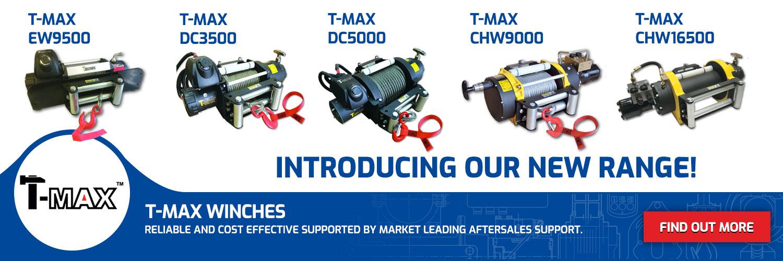 Winches - New T-MAX Range
